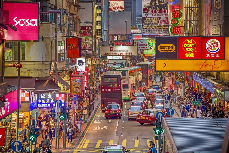 A Hong Kong street view