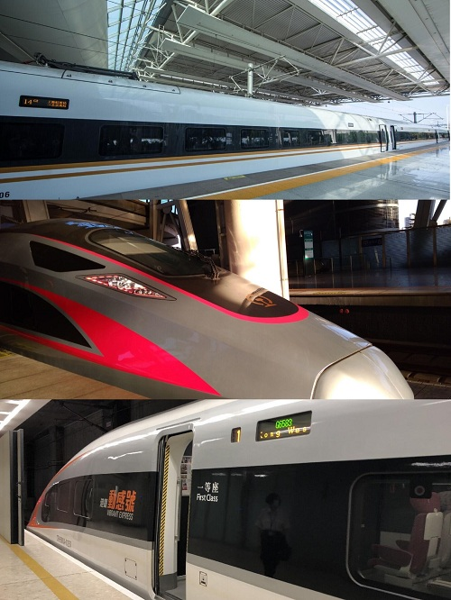 three main series of high-speed trains
