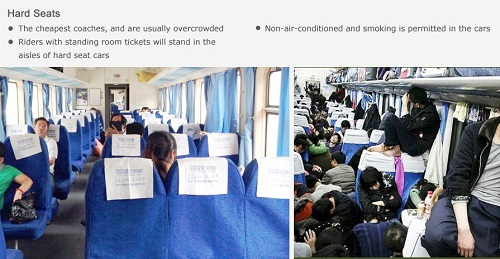 hard seats on normal-speed train