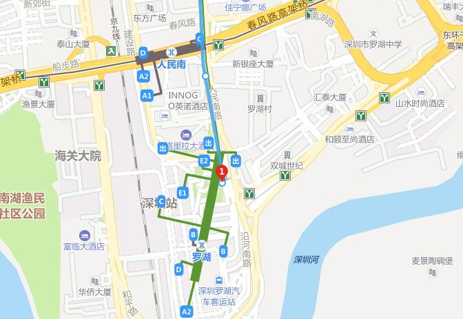 Shenzhen Railway Station Bus Map