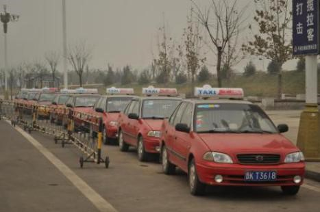 Taxis waiting in line