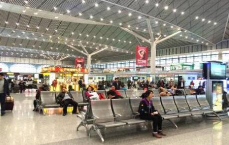 The waiting area at Xi'an North Railway Station